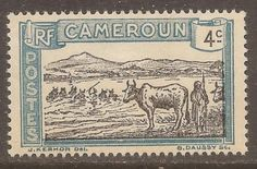 1925-38-Cameroun-Scott-172-Herder-Cattle-4c-Blue-Black-Mint