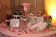 Candy bar for wedding reception