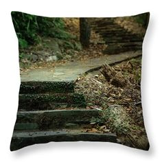 Path to yourself by Mariia Kalinichenko. Trail uphill near the fishing village of Tai O, Hong Kong.  #MariiaKalinichenkoFineArtPhotography #ArtForHome #HomeDecor #FineArtPhotography #Pillow