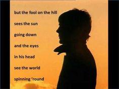 ▶ The Beatles - The Fool On The Hill - Lyrics - YouTube