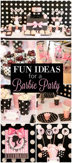 Lovely Barbie party ideas!