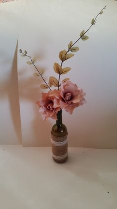 ***FOR HIRE*** and made ***BESPOKE*** Stunning Wine Bottle centrepiece for hire for just £6 each OR if you would like some made to match your colour scheme please get in touch!