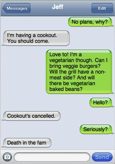 Cookout Cancelled