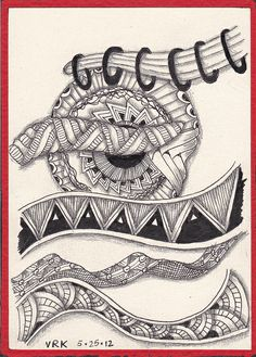 #papercraft #zentangle #doodle 0006 by val71655, via Flickr