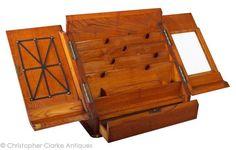 Brass Bound Antique Stationery Box - interior.  (Christopher Clarke Antiques)