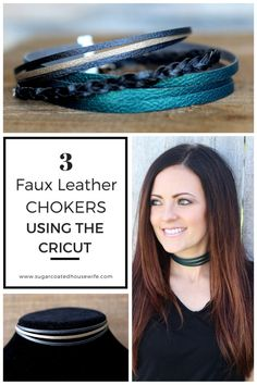 FAUX LEATHER FASHION CHOKERS MADE WITH CRICUT