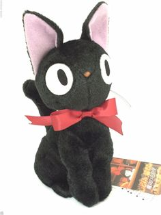 Kiki's Delivery Service JiJi M size Plush Doll Cat Studio Ghibli From Japan