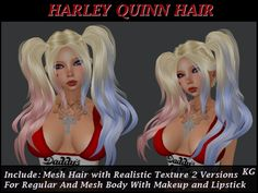KG Harley Quinn Hair and Makeup Teen Style PROMO PRICE !!