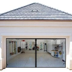 Diy Garage Storage, Garage Screen Door, Garage Doors, Garage To Living Space, Garage Walls, Garage Interior, Door Curtains, Garage Door Types, Doors