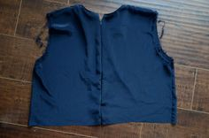 Merrick's Art // Style + Sewing for the Everyday Girl: Peplum Top Refashion (Tutorial)Once your zipper is in, the back of your bodice should look like this