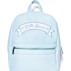 Sugarbaby Not Yours Mini Backpack (€42) ❤ liked on Polyvore featuring bags, backpacks, accessories, fillers, faux leather backpack, embroidered backpacks, backpack tote, vegan backpack and vegan tote