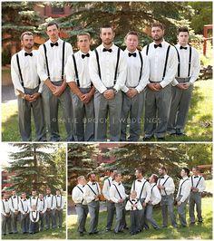 Summer Wedding Groomsmen in Suspenders