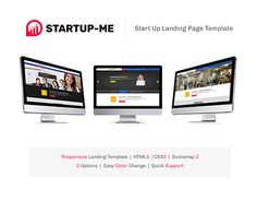 """Check out new work on my @Behance portfolio: """"StartUp-Me Responsive Website"""" http://be.net/gallery/53309523/StartUp-Me-Responsive-Website"""