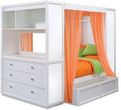 TweenNick The Retreat Canopy Bed Full My little one like to hideout