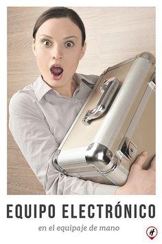 Equipo electrónico en equipaje de mano Blog, Frases, Carry On Luggage, Blogging
