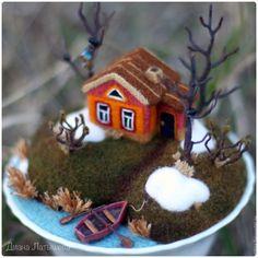 Купить Родина ВЕСНА - домик, деревня, река, родина, тропинка, домик в деревне, водоем, миниатюра