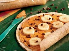 Healthy snacks for kids lunch boxes. Thanks Walmart! peanut butter banana tortilla wrap up