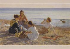 Elin Kleopatra Danielson-Gambogi, On the Beach 1904,  (3 September 1861 – 31 December 1919), a Finnish painter.