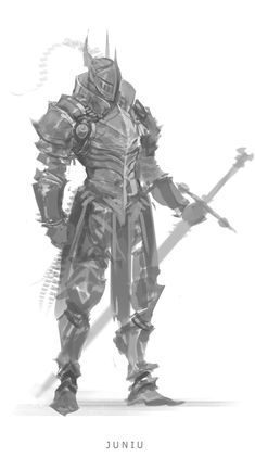 Kai Fine Art is an art website, shows painting and illustration works all over the world. Fantasy Character Design, Character Design Inspiration, Character Concept, Character Art, Armor Concept, Weapon Concept Art, Fantasy Armor, Dark Fantasy Art, Knight Art