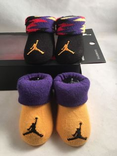 9598c4bf3f3 Boys Nike Air Jordan BOOTIES 2 PR Baby Jumpman Crib Shoes Blk orn 0-6  Months