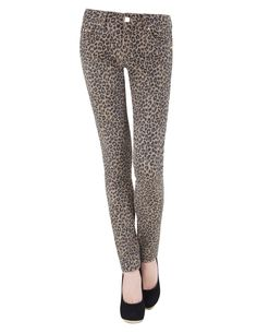 Jeans super skinny  leopardo {Blanco}