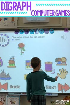 BEGINNING Digraph activities for kindergarten or first grade. This unit includes: 3 digraph differentiated computer games for students Digraph books for sh, th, ch, ph, wh. Each book has 2 different formats with 3 levels of differentiation. Interactive N