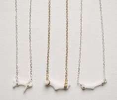 Coral Branch Necklace  make molds from coral