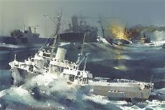 """Secretary class 327 CG cutters. John M. Waters, Jr. wrote,""""They were truly their nation's """"maritime workhorses.""""  Waters continued: """"the 327's battled, through the 'Bloody Winter' of 1942-43 in the North Atlantic--fighting off German U-boats and rescuing survivors from torpedoed convoy ships.  They went on to serve as amphibious task force flagships, as search-and-rescue (SAR) ships during the Korean War, on weather patrol, and as naval gunfire support ships during Vietnam."""