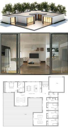Sims House Plans, House Layout Plans, Dream House Plans, House Layouts, House Floor Plans, Contemporary House Plans, Modern House Plans, Contemporary Interior, Sims House Design