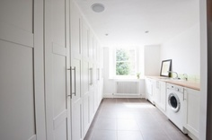 contemporary laundry room by moon design + build