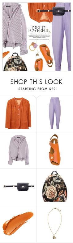 """""""A relaxing day with my lavender pants"""" by laste-co ❤ liked on Polyvore featuring Hermès, Hillier Bartley, STELLA McCARTNEY, Versus, Wouters & Hendrix and lavender"""