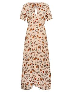 Pin for Later: Update Your Fall Dresses For Less Than You'll Spend on Date Night Pixie Market Floral Maxi Dress Pixie Market Betsey Floral Maxi Dress ($42, originally $64)