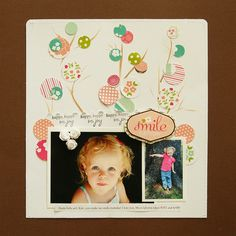 Danielle Flanders circles, galleri, backgrounds, scrapbook idea, trees, scrapbook layout, daniell flander, scrapbook pages, leaves