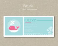 Invitations - Pink Whale
