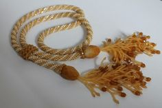 Bead crochet rope in honey shades by NFR