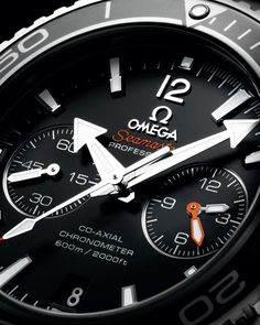 OMEGA Watches: Seamaster Planet Ocean 600 M Omega Co-Axial Chronograph mm - Steel on steel - Amazing Watches, Beautiful Watches, Cool Watches, Dream Watches, Wrist Watches, Men's Watches, G Shock, Michael Kors Perfume, Omega Co Axial