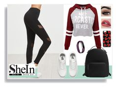 """""""Untitled #258"""" by amy-musiclover3 on Polyvore featuring WithChic, Vans, MANGO and Fitbit"""