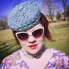 Braided Taffeta Pillbox hat by StarlingMillinery on Etsy