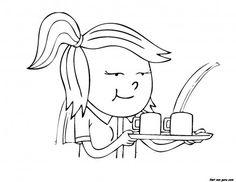 SweetDuet® Frozen Yogurt & Gourmet Muffins coloring page