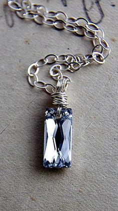 Silver Linings Prism Necklace Silver Swarovski Crystal Geometric