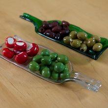 Olive and Pip Split Serving dish - Green Serving Dishes, Glass Bottles, Crisp, Sweets, Dinner Parties, Dining, Fruit, Vegetables, Devon