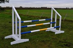 Show Jumps Triple Wood Jump Poles Jump Cups Included in Sporting Goods, Equestrian, Horse Wear & Equipment | eBay