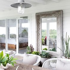 Outdoor style at the beautiful inspiring me for mirrors in my outdoor space Photography for 🌴 Coastal Gardens, Coastal Homes, Coastal Cottage, Coastal Style, Coastal Living, Space Photography, Interior Photography, The Grove Byron Bay, Byron Bay Accommodation