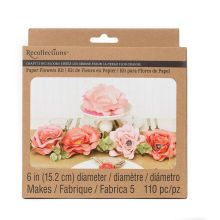 "Recollections Craft It Big Bloom 6"" Paper Flowers, Pink"