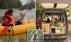 Marina Piro, 25, who was born in Italy but currently lives in the UK, bought a five door 2001 Renault Kangoo and transformed it into a home so she can travel the world with her rescue dog.