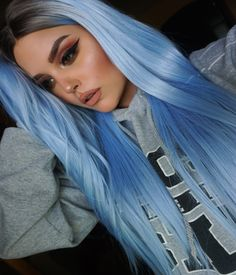 Blue Wigs Lace Hair Lace Frontal Wigs Midnight Blue Hair Color Twist W – datestal Blue Wig, Hair Color Blue, Cool Hair Color, Periwinkle Hair, Pastel Blue Hair, Frontal Hairstyles, Crown Hairstyles, Midnight Blue Hair, Hair Wigs For Men