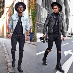 Style by @_donthiago_ Left or right? Follow @mensfashion_guide for dope fashion posts! #mensguides #mensfashion_guide