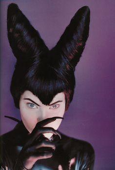 Shalom Harlow as Maleficent photographed by Javier Vallhonrat