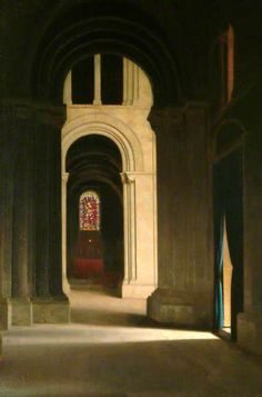 """""""Romsey Abbey"""", by Leonard Campbell Taylor (British, 1874-1969)."""