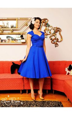 Pinup Couture- Heidi Dress in Royal Blue | Pinup Girl | Pretty Little Liars